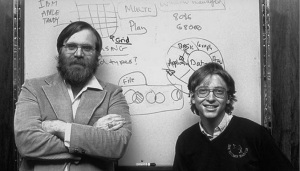 The two founders of Microsoft